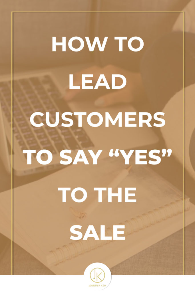 """How to Lead Customers to Say """"Yes"""" to the Sale.001"""
